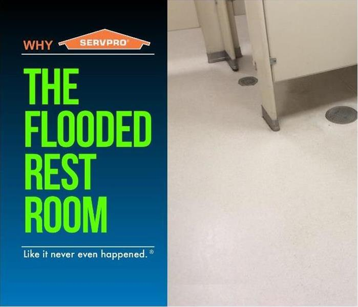 flooded public restroom cleaned