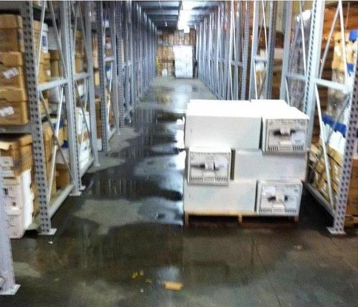 flooded warehouse