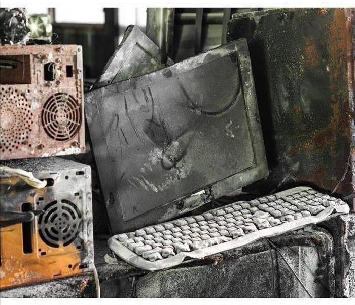 electronics damaged by fire