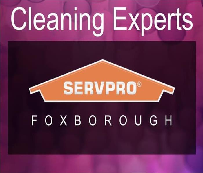 SERVPRO Logo with text, Cleaning Experts Foxborough